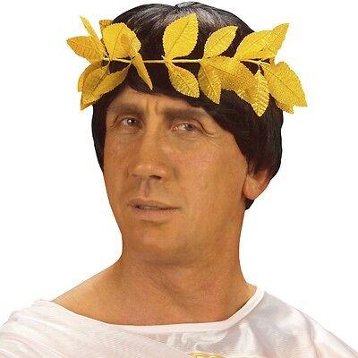 LORBEERKRANZ GOLD Siegerkranz Julius Cäsar Römer Imperator Kostüm Zubehör - Caesar Kostüm Zubehör