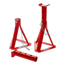Top Tech 2 Tonne Fixed Base Axle Stand Set