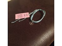 Blue bracelet with flower charm *new*