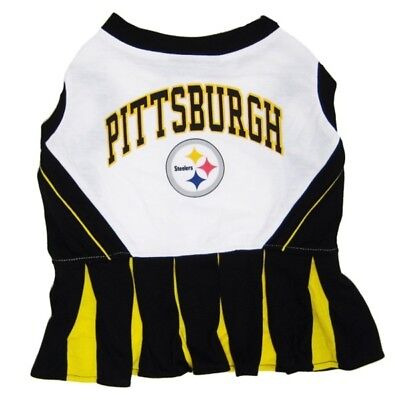 Pittsburgh Steelers NFL Cheerleader Dog Pet Dress Outfit Sizes XS-M](Dog Cheerleader Outfit)