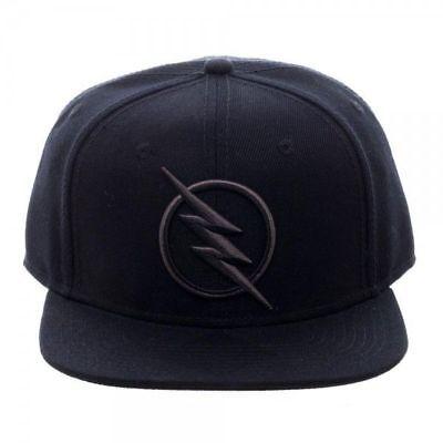 DC COMICS SOLID BLACK REVERSE FLASH ZOOM LOGO SNAPBACK HAT CAP LIGHTNING BOLT - Flash Hat