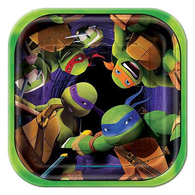 (8ct) Ninja Turtles TMNT Birhtday Party Cake Dessert Small Paper Plates ()