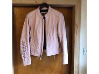 Harley Davidson Ladies 'Baby Pink' Leather Motorcycle Jacket