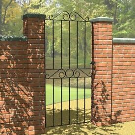 Metal tall scroll gate - ideal for side entrances or gate between tall exterior walls