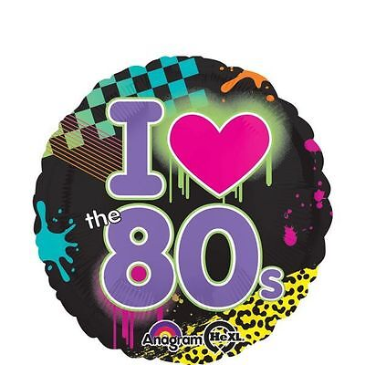 TOTALLY 80's FOIL BALLOON I LOVE THE EIGHTIES PARTY DECORATION  - Eighties Party Decorations