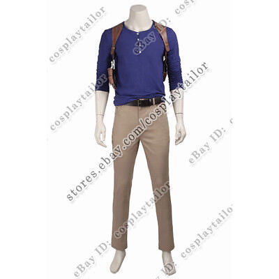 Drake Halloween Party (Uncharted 4 A Thiefs End Nathan Drake Cosplay Costume Halloween)