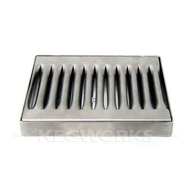 5 Beer Drip Tray - Stainless Steel - No Drain - Bar Pub Kegerator Spill Catcher