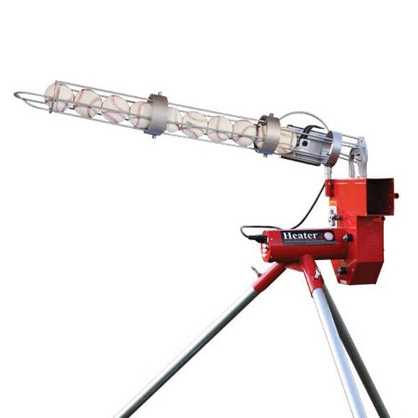 Trend Sports Heater Real Baseball 52mph Pitching Machine & Autofeeder HTR6000BBC