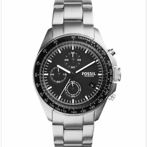 Mens fossil sport 54 chronograph stainless steel watch