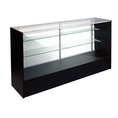 Item Sc5b 5 Economy Full Vision Showcase In Black Glass Display Case Will Ship