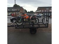 Quad bike buggy motorbike transporter trailer good condition