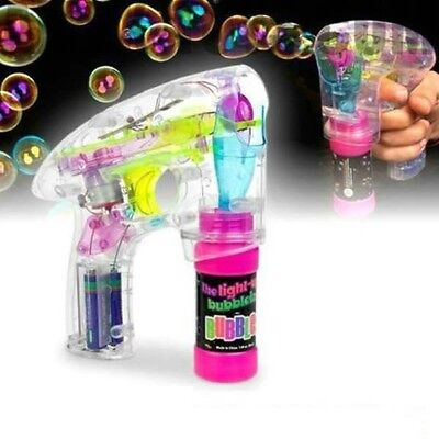 Toys for Boys 5 6 7 8 9 10 11 Years Old LED Light Up Bubble Gun Battery Operated - Toys For 10 Year Old Boys