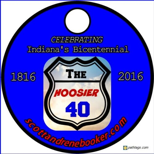The Hoosier 40 Indiana Geocaching Pathtag - Limited Number (only 200 made)
