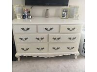 Set of 3 - chest of drawers x2 bedside tables