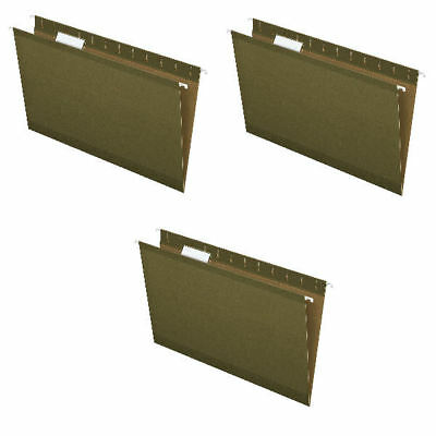 New Pendaflex Reinforced Hanging Folder Legal Size Standard Green 15 Cut 3 Pack