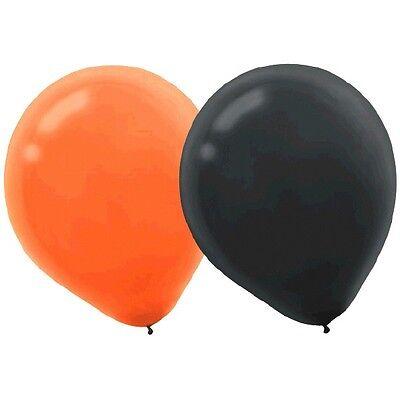 Halloween Orange Black Latex Balloons 15 Piece](Halloween Balloons Latex)