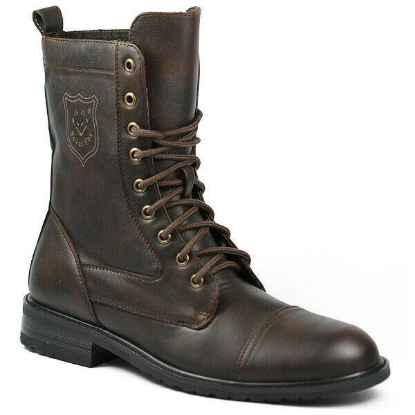 Polar Fox MPX-801026 Men's Lace Up Combat Style Fashion Boot
