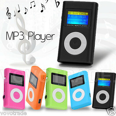 NEW COLOR USB Mini MP3 Player LCD Screen Support 32GB Micro SD TF Card W/ SCREEN