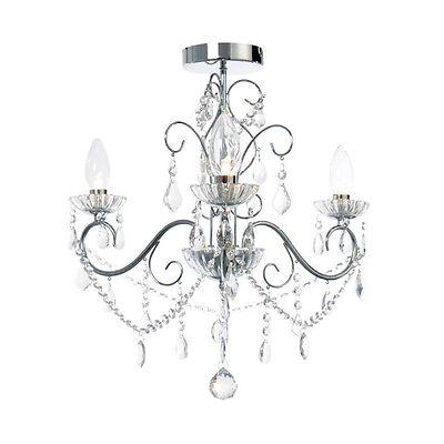 Forum Vela SPA-20182-CHR - 3 Light Bathroom Ceiling Light Chandelier ()