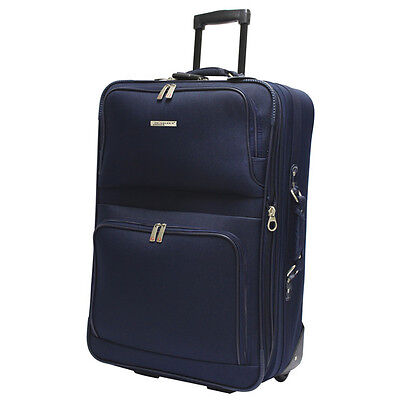 Travelers Choice Voyager Expandable Luggage Upright Suitcase