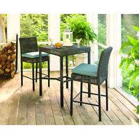 Set de bar bistro table et 2 chaises patio terasse valeur $440