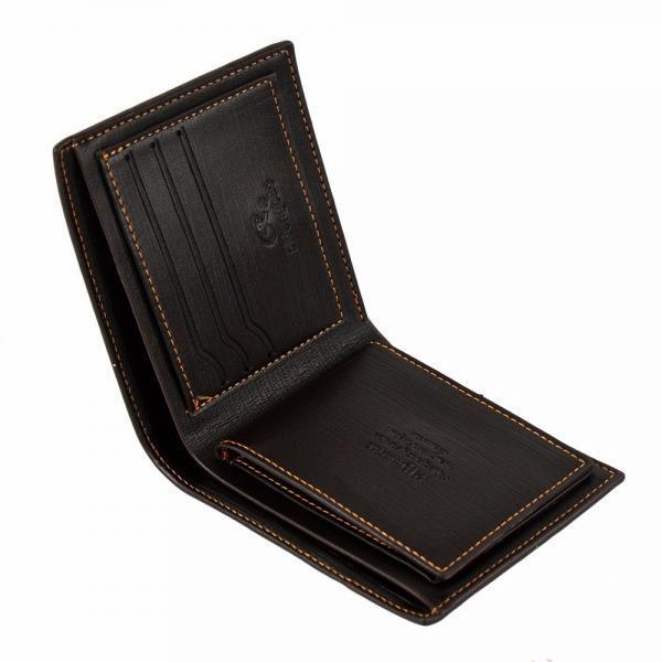 Bifold Wallets For Men RFID Blocking with ID Window Card Holder Leather Wallet Clothing, Shoes & Accessories