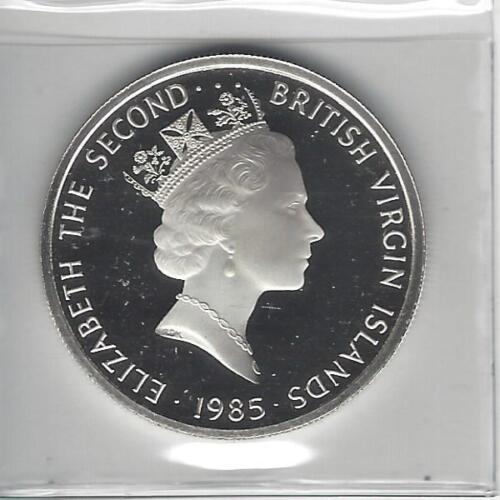 British Virgin Islands 1985 20 Dollars Silver Proof