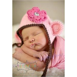 New Baby Boy Girl Crochet Beanie Costume Hat 0-3,