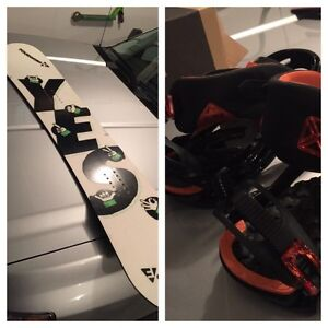 "Brand new 150 ""YES"" board with ""SALMON"" bindings"