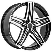 "BLOWOUT 22"" Black machined rims 5X120 ONLY $1200 #Z12"