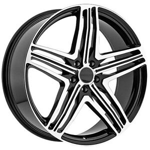 """BLOWOUT 22"""" Black machined rims 5X120 ONLY $1200 #Z12"""