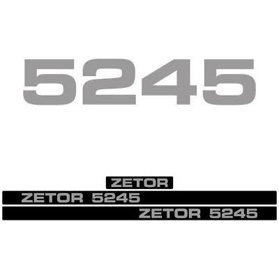 Zetor 5245 Tractor Decal Aufkleber Sticker Set