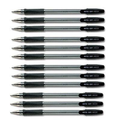 Pilot Bps Gp Ball Pen Rubberised Grip Pack 12 Premium Pens Multi Colours