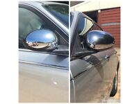 ROVER 75 MG ZT ZTT ELECTRIC CHROME WING MIRRORS COMPLETE DRIVES & PASSENGERS OS & NS