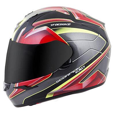 Scorpion Exo R410 Kona Full Face Motorcycle Helmet Red Neon Adult Sizes