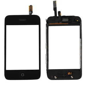 New Black Touch Screen Digitizer Lens + Midframe Replacement for iPhone 3G USA