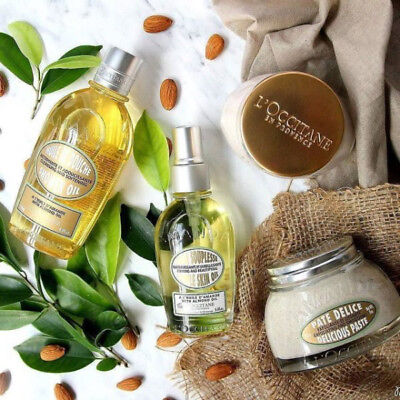 Shower Oil Collection - L'Occitane Almond Collection Body Oil Concentrate Exfoliating Butter Shower Oil