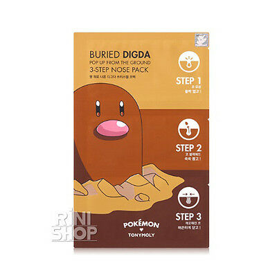 Tony Moly  Pokemon Pop Up From The Ground Buried Digda 3Step Nose Pack Rinishop
