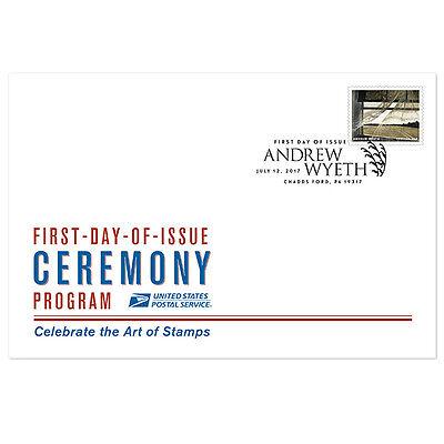 USPS New Andrew Wyeth Ceremony Program