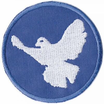 Friedenstaube Patch / Aufnäher, 8 cm