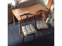 Furniture table and two chairs