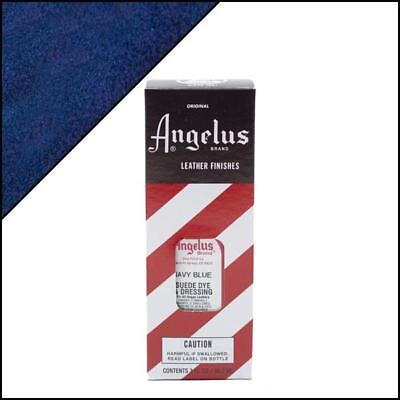 ANGELUS Navy Blue Suede Dye 3 oz. with Applicator for Shoes Boots Bags NEW Crafts
