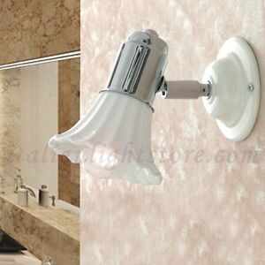 Applique spot lampada parete classico rustico cromo cromato ceramica bagno ebay - Applique per il bagno ...