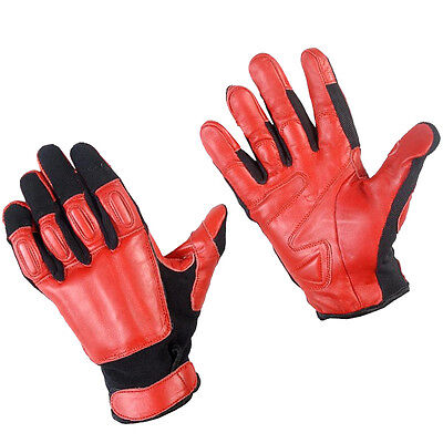 GENUINE SAP GLOVES REAL LEATHER RED AND BLACK COMFORTABLE STEEL SHOT SIZE L
