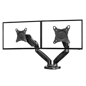 "Dual Monitor arm 17""-27"" Gas Pressured Adjustable Height - $150"