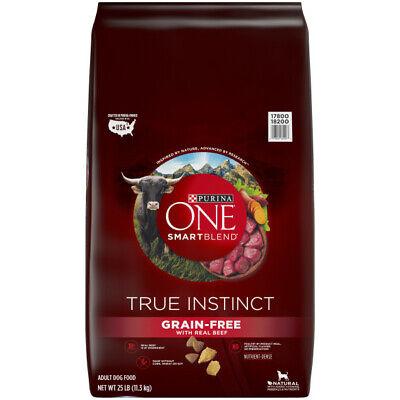 Purina ONE Grain Free Natural Dry Dog Food, SmartBlend True Instinct 25 lb. Bag