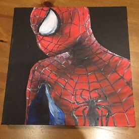 Hand painted Spider-Man canvas