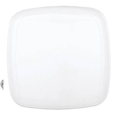 Plastic Catering Platters (Frosty White Square Platters 35.5cm Birthday Wedding Catering Party)