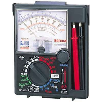 Official Sanwa Sp18d Analog Multi Tester Anti Shock Meter Fs From Japan