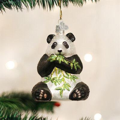 Panda Bear Glass Ornament - Panda Ornament